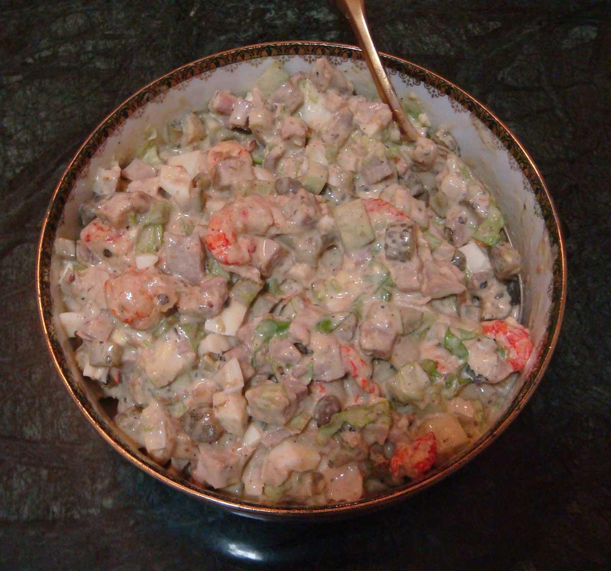 Настоящий рецепт салата Оливье, по которому готовили в ресторанах Российской империи