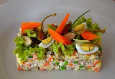 Красивые и необычные варианты декорирования салата олвиье