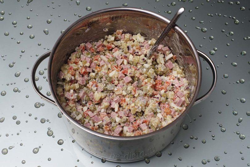 Салат обычное оливье рецепт