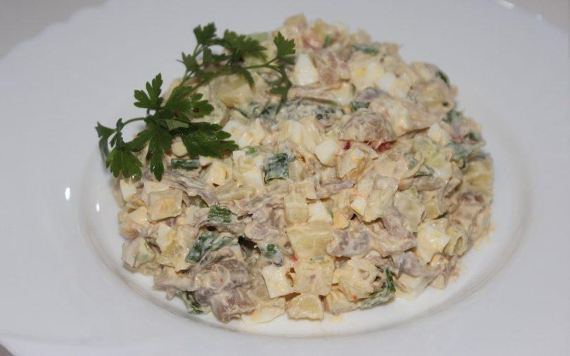 Рецепт приготовления салата оливье с телятиной