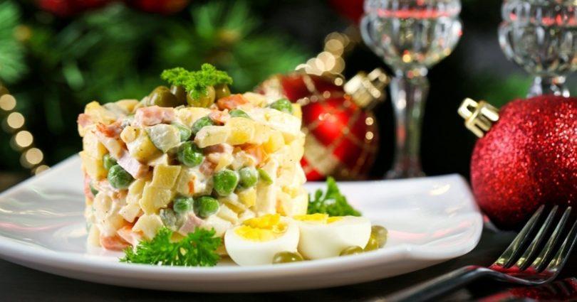Рецепт новогоднего салата оливье
