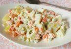 Рецепт салата оливье с сыром