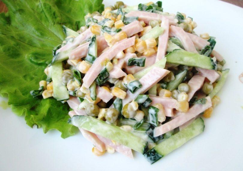 Рецепт салата оливье с ветчиной