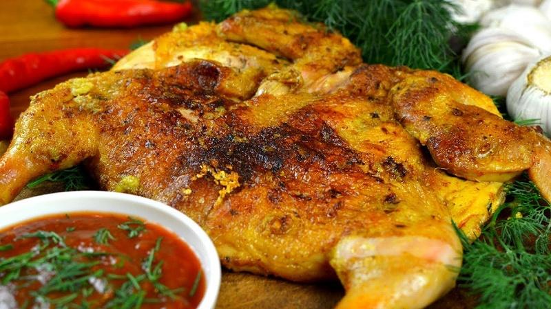 Цыпленок тапака (табака) - простой рецепт приготовления